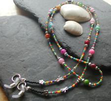 """Summer Festival"" Bright Colourful Beaded Glasses Chain Spectacles Holder"