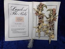 Lunch at the Ritz earrings large dangle whimsical designer vintage USA clip-on