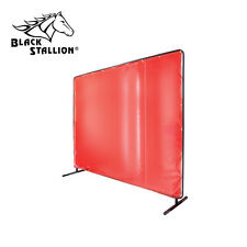 Revco Saf-Vu 14 mil. Translucent Vinyl Orange 6' x 8' Welding Screen & Frame