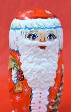 """5 Pc Russian Nesting Doll , Matreshka Doll """" Santa """" 5.5"""" Tall"""