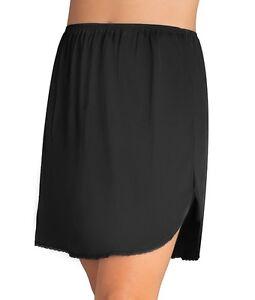 "Vanity Fair Daywear Solutions 100% Nylon Black Half Slip Size Large Length 20"""