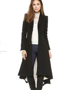 2019 SteamPunk Vintage Ladies Swallow Tail Long Coat Blazer Suits Jacket