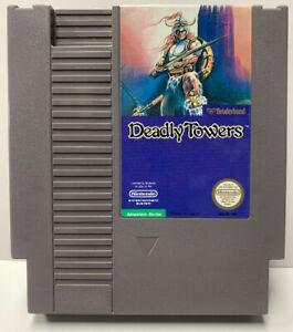 Deadly Towers Nintendo NES Cartridge Only Authentic Clean & Tested By Broderbund