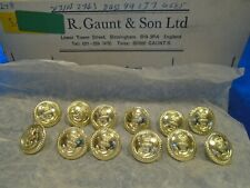 More details for 12 x new royal navy 19mm anodised gold officers jacket/blazer naval buttons