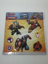 Marvel AVENGERS 3-D STICKERS (7) Sheet THOR IRONMAN CAPTAIN AMERICA Free Ship