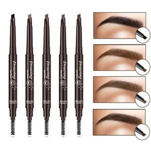Eyebrow Pencil & Brush Fine Brow Definition Shaper Double Head Waterproof Liner