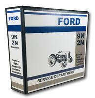 Ford 9N 2N Tractor Master Service Repair Manual Parts Catalog Shop SET 822pgs