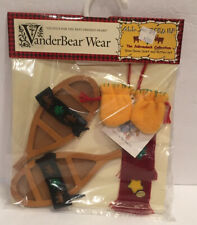 NEW Vanderbear Wear All Spruced Up Adirondack Set Snow Shoes Scarf Mittens Muffy
