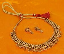 Indian Bollywood Necklace Jewelry Gold Plated Bridal Wedding Fashion Earrings
