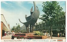 Yorkshire; Sheffield, Moorfoot Pedestrian Area PPC, c 1980's