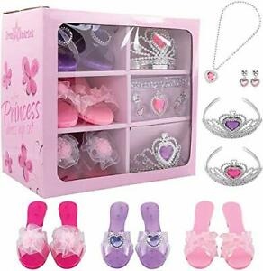 Princess Dress Up Set Shoes and Tiaras for Little Girls By Dress Up America
