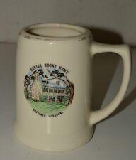 Vintage Aged Daniel Boone Home Defiance Missouri Ceramic Beer Stein Mug Rare