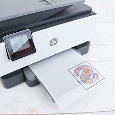 10 Sheets Of Printable Heat Transfer Vinyl Inkjet Printer And Light Fabric