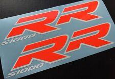Aufkleber-Set 2-teilig für BMW S1000RR Neonrot-Weiß u.a. für Rennverkleidung