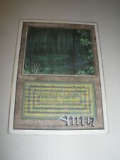 MTG Magic Artist Signed FWB White Bordered Bayou x1 German Revised Good