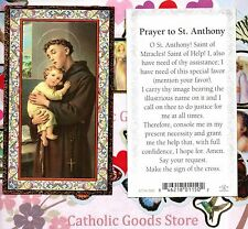 Saint St. Anthony - Prayer to St Anthony - Gold Trim - Paperstock Holy Card