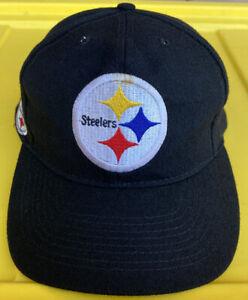 Vintage Pittsburgh Steelers American Needle Blockhead SnapBack Hat Cap 100% Wool