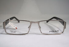 Men's POLAR Masculine Black & Sandblasted Steel Eyeglass Frames Glasses Small
