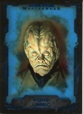 Star Wars Masterwork 2016 SP Blue Base Card #52 Pons Limbic