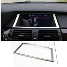 Steel Front Navigation GPS Frame Cover Trim for BMW X5 E70 2007-13 x6 e71 08-14