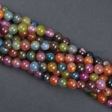 """16"""" lot Natural Gemstone Round Spacer Loose Beads 4MM  Wholesale"""