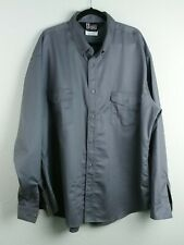 Oil & Gas Safety Supply Flame Resistant Button Down Shirt Sz 3Xlt 9.2 Atpv Gray