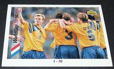 CHECKLIST 1-70 SVERIGE FOOTBALL CARD UPPER USA 94 PANINI 1994 WM94 COUPE MONDE