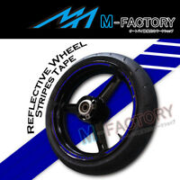 "Blue Reflective Rim 17"" Wheel Decals Tape For Yamaha YZF R1 R6 03 04 05-11"