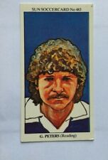 THE SUN SOCCER CARDS 1978-79 #483 GARRY PETERS READING