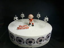 CAKE topper Figura Decorazione Compleanno-Calcio rosso-decorazione per torta Set.