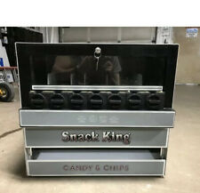Vintage Snack-King Tabletop Snack Vending Machine Quarters Manual Operation