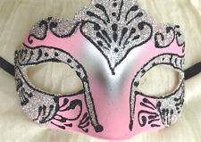 Ojo Máscara ~ Azúcar Caramelo Rosa Plata Negro ~ Uni Ball ~ Baile De Mascarada ~ ~ 35250 ~ UK Libre PP
