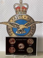 2018 New ACRYLIC DISPLAY CASE With Print FOR Set RAF £2 pounds COINS ( No Coin )