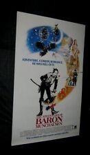 "Original ADVENTURES OF BARON MUNCHAUSEN Rare ROLLED! White Video Version 27""x41"""