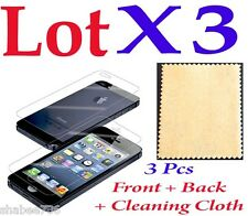 R1 Lot 3 x 3 = 9 Pcs LCD Iphone 5 5S Screen Protector Anti Scratch Finger Print