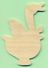 """LOT OF 8 """"GOOSE DUCK"""" Bird 4"""" Wood Wooden Cutouts Unfinished Craft Pieces *NEW*"""