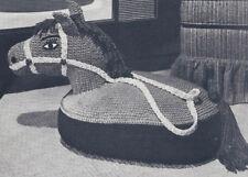 Vintage Crochet PATTERN to make Sitting TV Horse Floor Pillow Stuffed Animal TVH