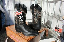 39-20 New Justin WOMENS 7C Black Chester  western boots was 199.00