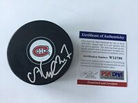 Alex Galchenyuk Signed Autographed Montreal Canadiens Hockey Puck PSA DNA COA a