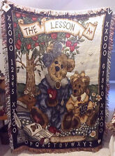 Boyds Bears The Lesson Teacher/Student Tapestry Afghan Throw