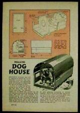 Insulated DOG HOUSE 1943 How-To Build PLANS