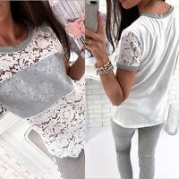 Fashion Women's Summer Loose Tops Shirt Short Sleeve Blouse Casual Tops T-Shirt