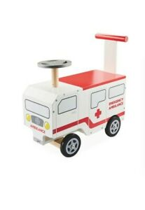 Little Town Wooden Ride on Ambulance Age 12 months +