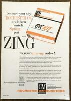 1961 Rochester Carburetors Print Ad OK Kit Put Zing in Your Tune-Up Sales!