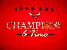 1998 CHICAGO BULLS 6 time Champions Basketall SHIRT-L