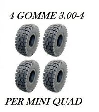 4 Gomme 3.00-4 Per Mini Quad Treno Completo
