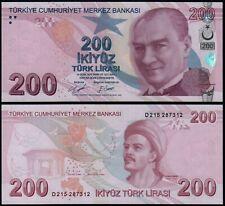 More details for turkey 200 lira (p227d) 2009 (2020) unc
