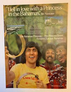 1978 The Princess Hotel Freeport Lucaya Bermuda Print Ad Original Ilie Nastase