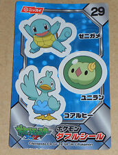 Japanese Pokemon Nissui Sticker Seal XY Series - Squirtle #29