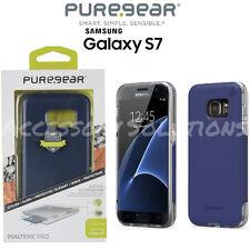 PureGear Samsung Galaxy S7 Dualtek Pro Impact Rugged Case Blue / Clear, 61403PG
